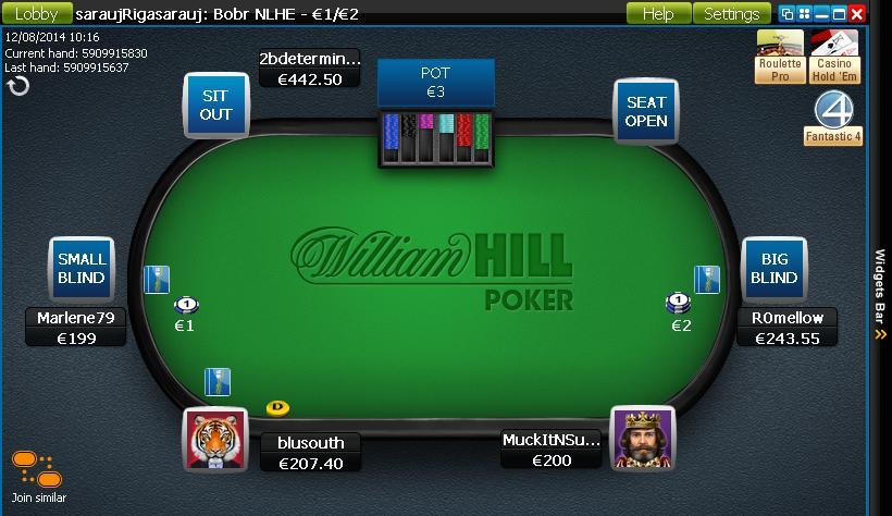 William Hill Poker кэш-игры